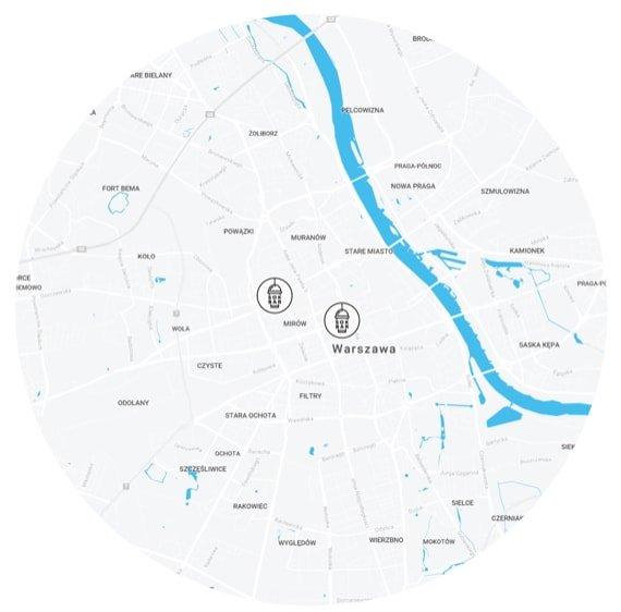 Mapa obszaru dostawy